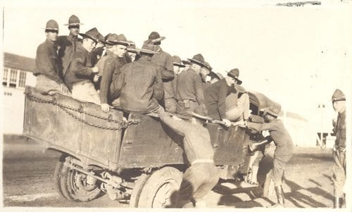 "Mortimer captioned this photograph ""Off to Lawton."""
