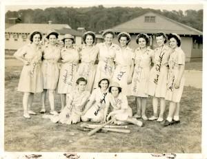 Theresa M. Dischler, WAAC baseball, WWII, Bolling Field, Washington, D.C.