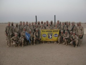 Members of the 101st Airborne Division while stationed in Iraq.