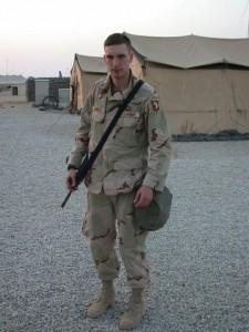 Jeff Carnes in Kuwait.