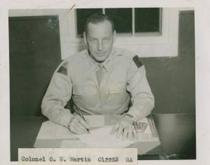 c. 1944 photograph of recently-promoted Colonel Orville W. Martin Sr., Division Artillery Commander of the 7th Armored Division.